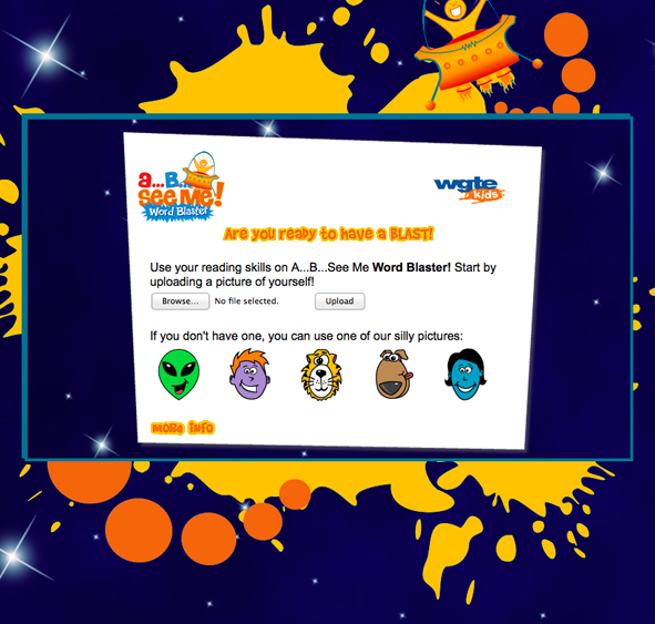 WGTE Kid's Games - AB See Me! Word Blaster