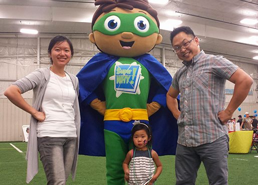 Super Why at Family Fun Day
