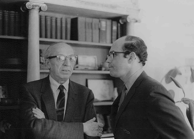 Aaron Copland and Samuel Adler, 1962 (University of North Texas)