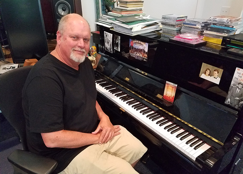 Michael Daugherty in his home studio (WGTE)