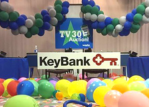 WGTE Auction Set with KeyBank Support