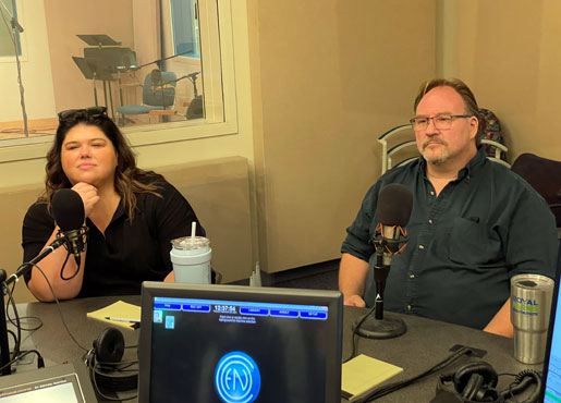 Leah Crocetto and Carl Tanner at WGTE