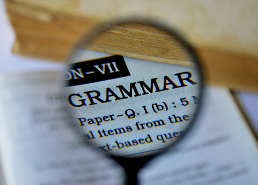 Grammar in the Dictionary