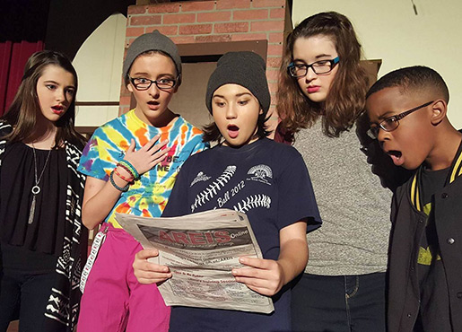Students rehearsing for a CTW production