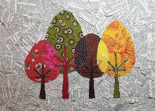 Mixed Media Trees