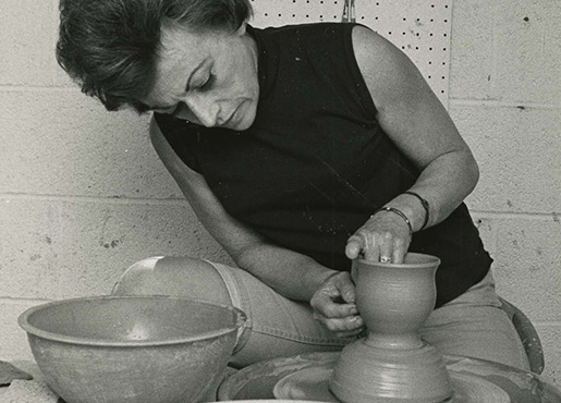 Edith Franklin at the Potter's Wheel