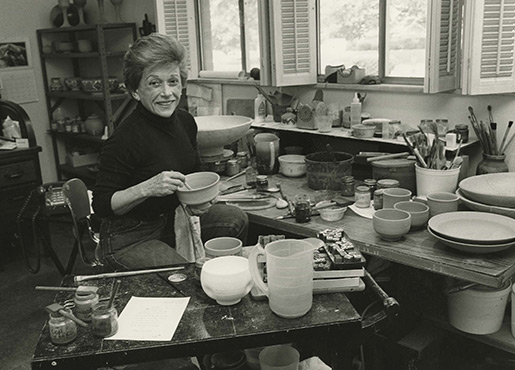 Edith Franklin Making Pottery