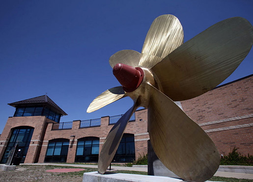 Large Propeller Outside of the National Museum of the Great Lakes