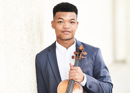 Violinist Randall Goosby